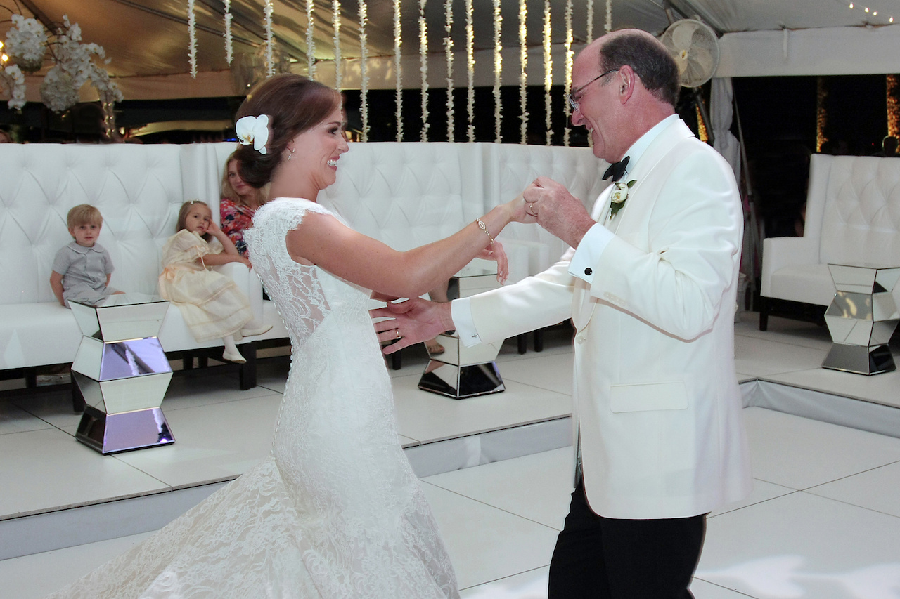 "Bryson and her father danced to ""Butterfly Kisses"" by Bob Carlisle."