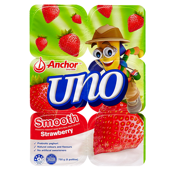 Anchor Uno Strawberry Yoghurt 6 x 125g pack