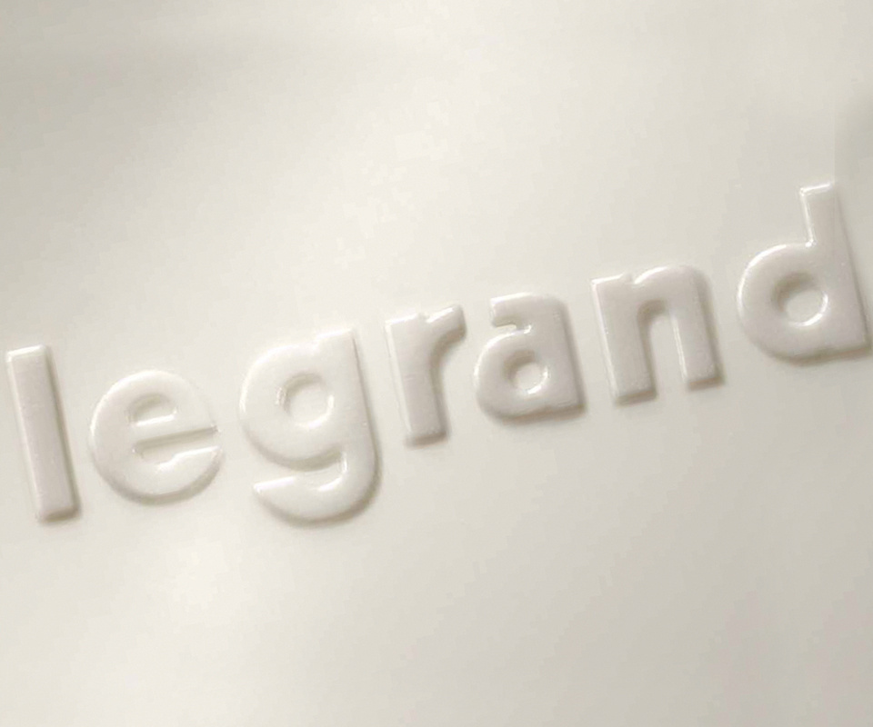 Legrand embossed in white