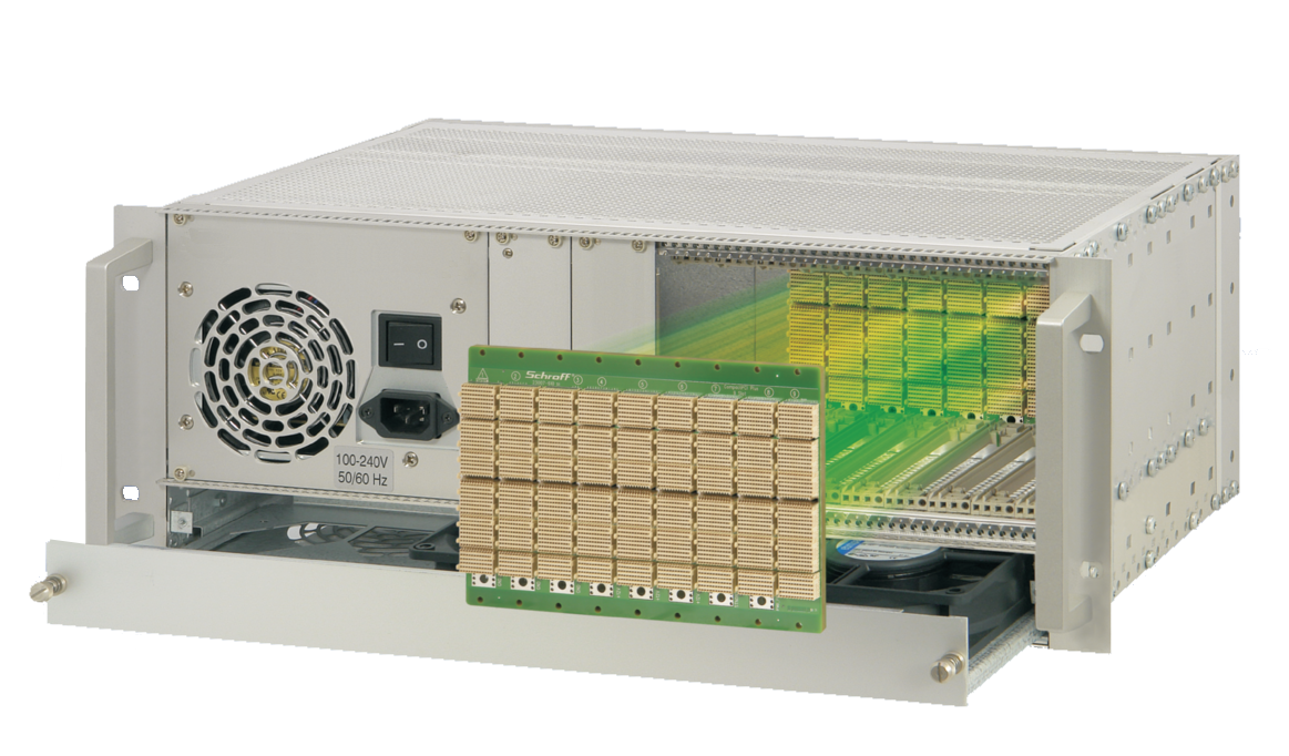 Image for CompactPCI Serial 4 U, 9 slot, with rear I/O, with ATX power supply from Schroff - North America