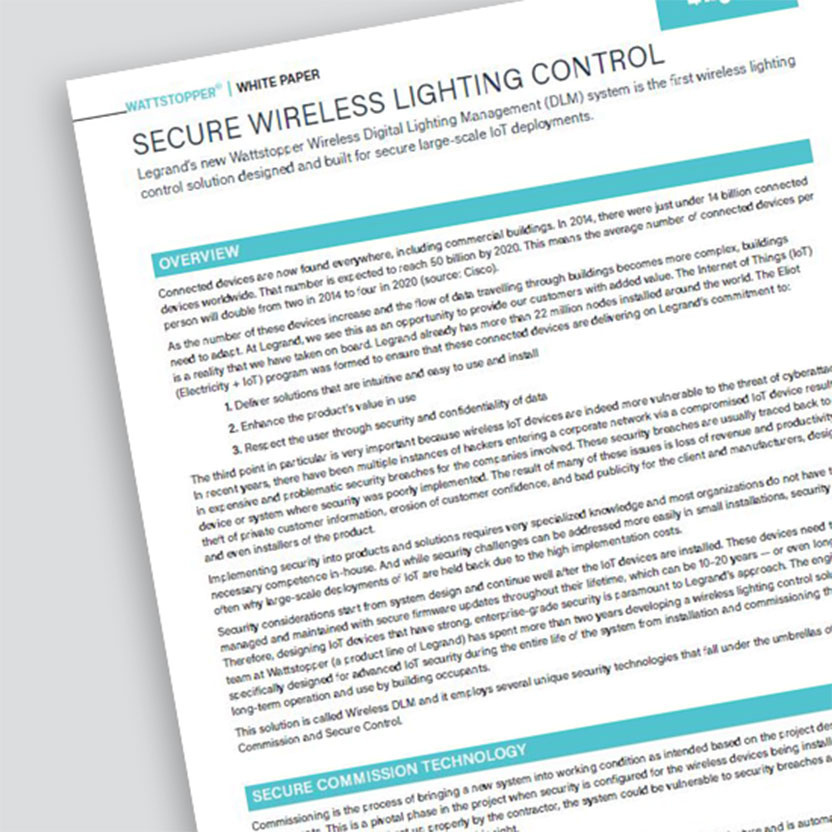 Secure Wireless Lighting Control White Paper
