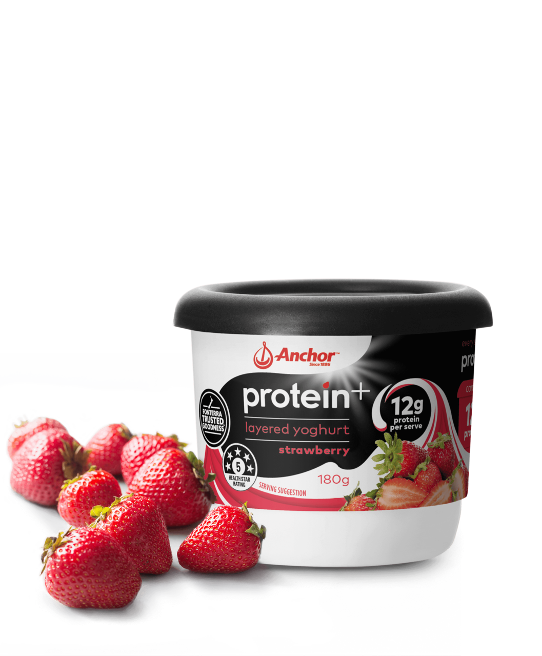 Anchor Protein+ Strawberry Yoghurt 180g tub