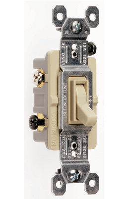 TradeMaster Grounding Toggle Switch, Ivory, 663IG