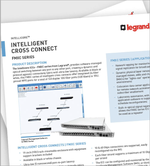 Legrand Intellicore Intelligent Cross Connect FMXC Series Resource