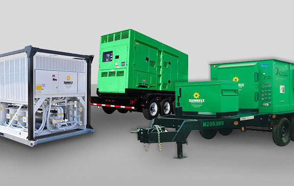 Selection of Power & HVAC tools available for rent at Sunbelt Rentals