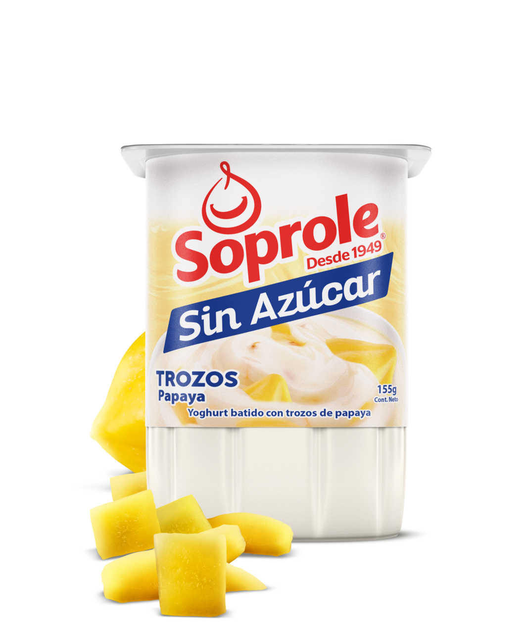 Soprole Yoghurt Light Trozos Papaya 155