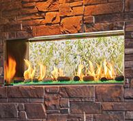 Lanai See-Through Gas Fireplace