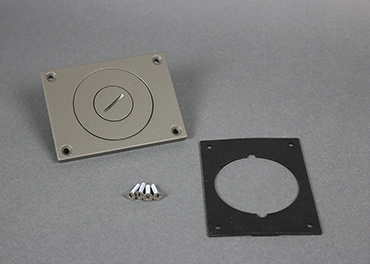 Powder-Coated Alum. Cover Plate, 829CKAL-3/4GY
