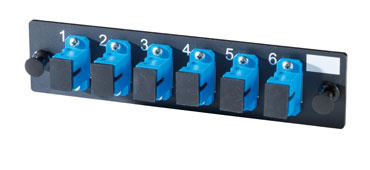 6-SC Simplex singlemode adapters with ceramic alignment sleeves, OR-OFP-SCS06AC