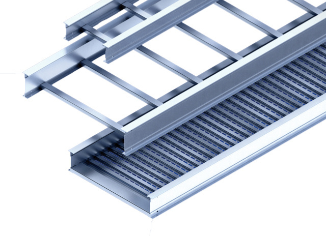 Tray right away ladder tray rendering over blue background