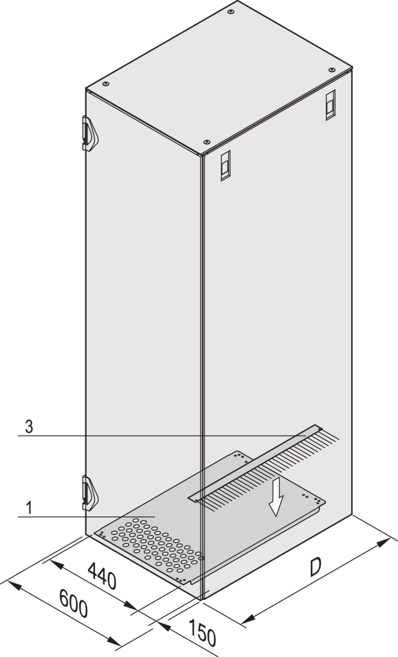 Imagen para Base plate for lateral cable ducting de Schroff - Norteamérica