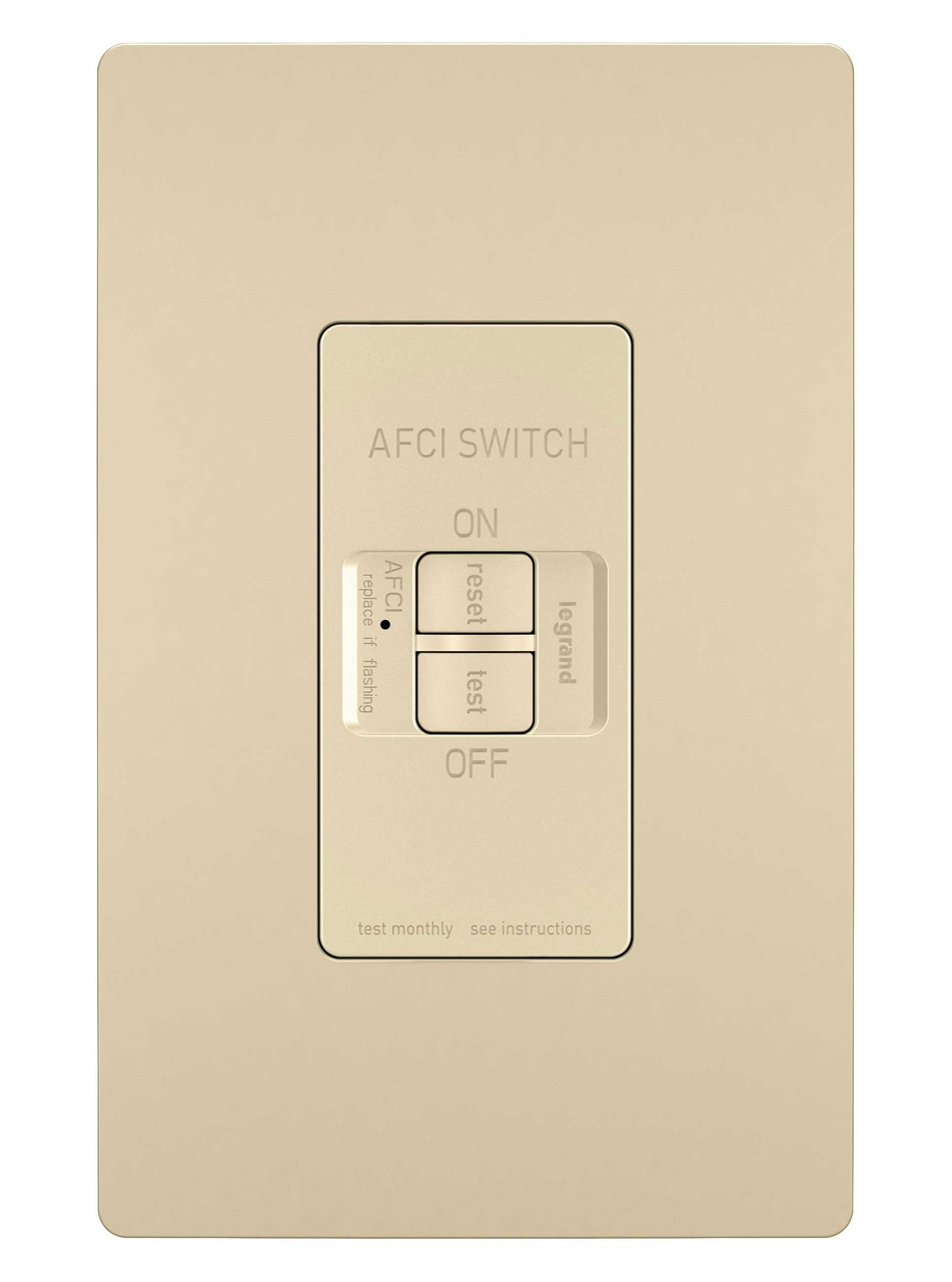 Dead Front 20A Outlet Branch Circuit AFCI, Ivory