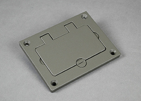 Powder-Coated Alum Rectangular Cover Plate-Gray - 828GFITCAL-GY