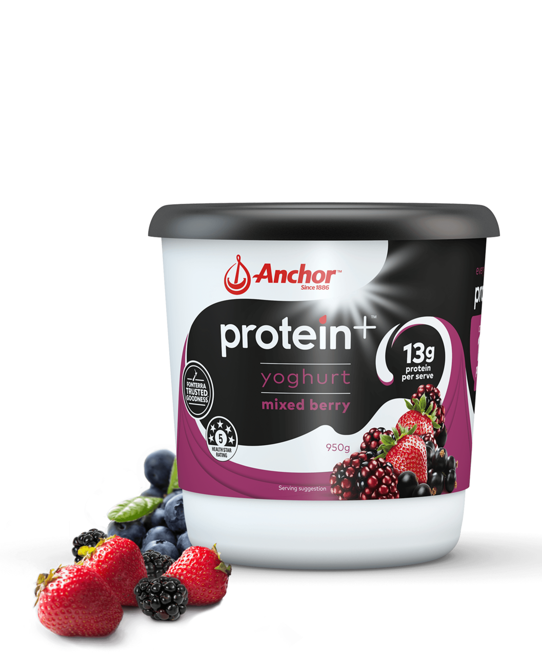 Anchor Protein+ Moxed Berry Yoghurt 950g pack