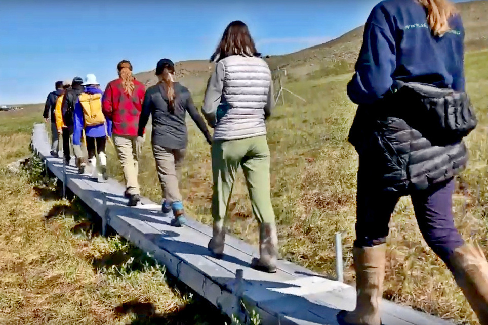 Partnership for Education Program Alaska students in the field.