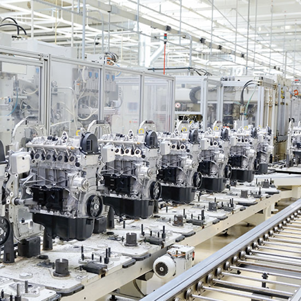 Industrial manufacturing unit