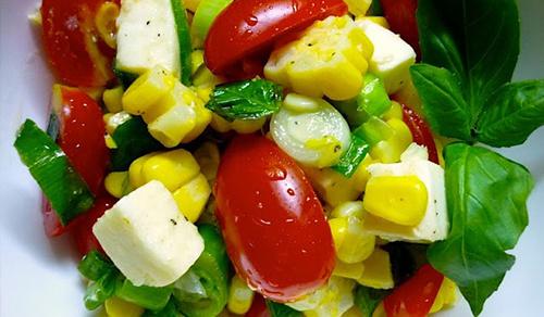 Tomato, Corn, & Mozzarella