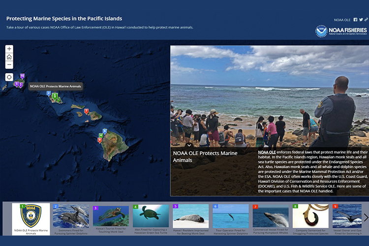 Screen shot of StoryMap