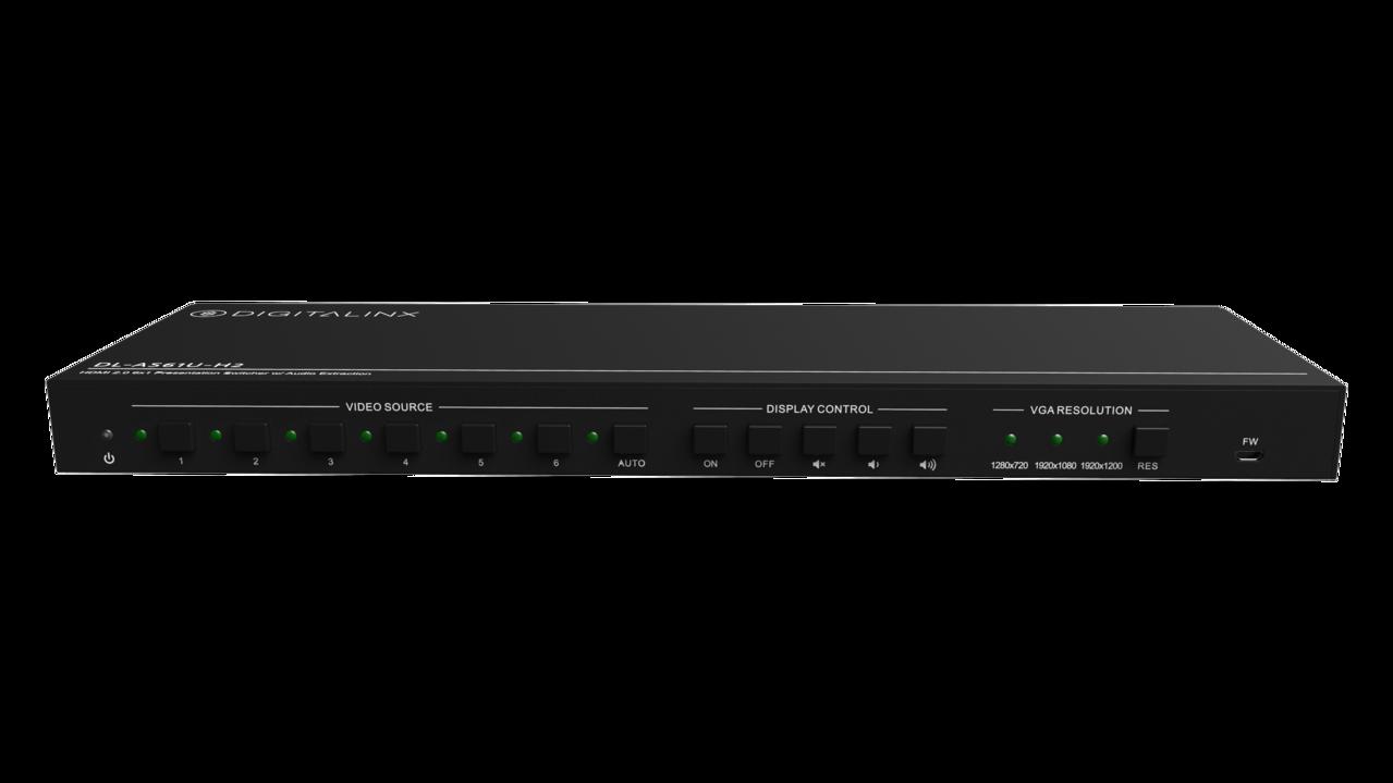 DL-AS61U-H2 - Digitalinx 6x1 Multi-Format Presentation Switcher