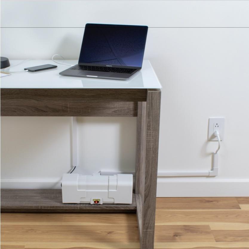 cable management box below desk