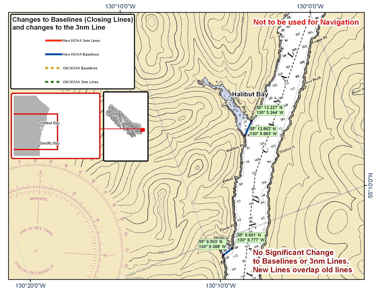 Chart for Halibut and Sandfly Bay