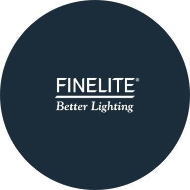 Finelite logo with navy blue background