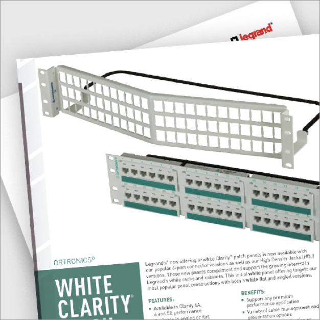 Patch panel products brochure pdf image