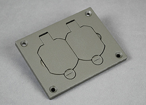 Powder-Coated Alum Duplex Cover Plate-Gray - 828R-TCAL-GY
