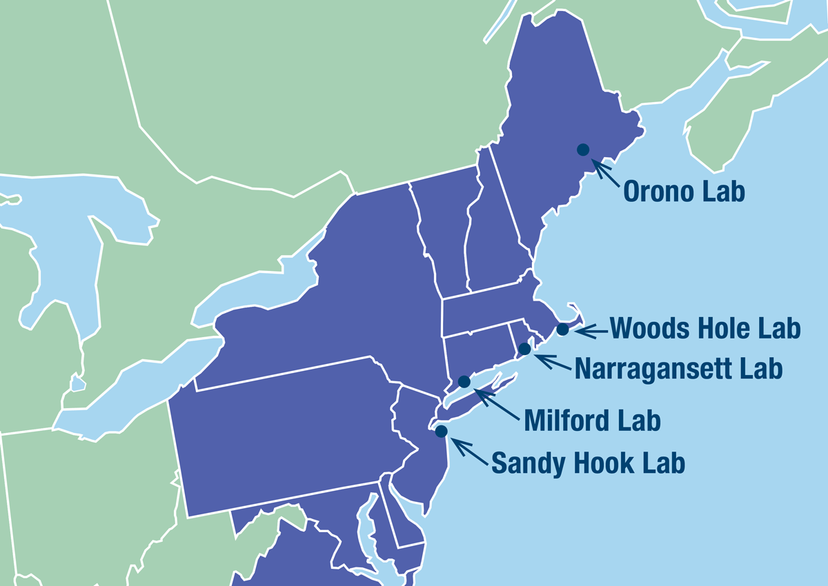 Northeast Fisheries Science Center locations