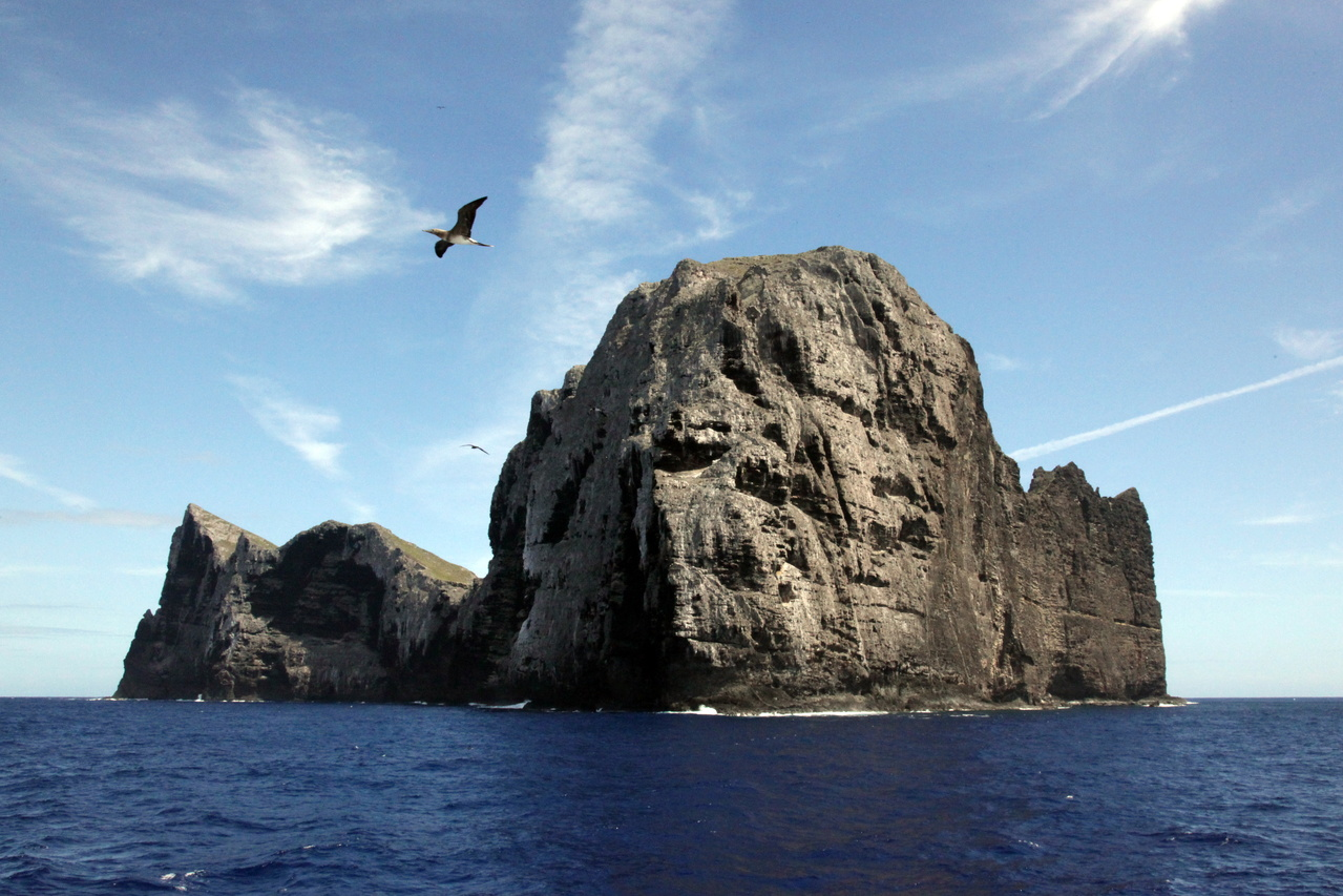 The northwest point of Nihoa Island