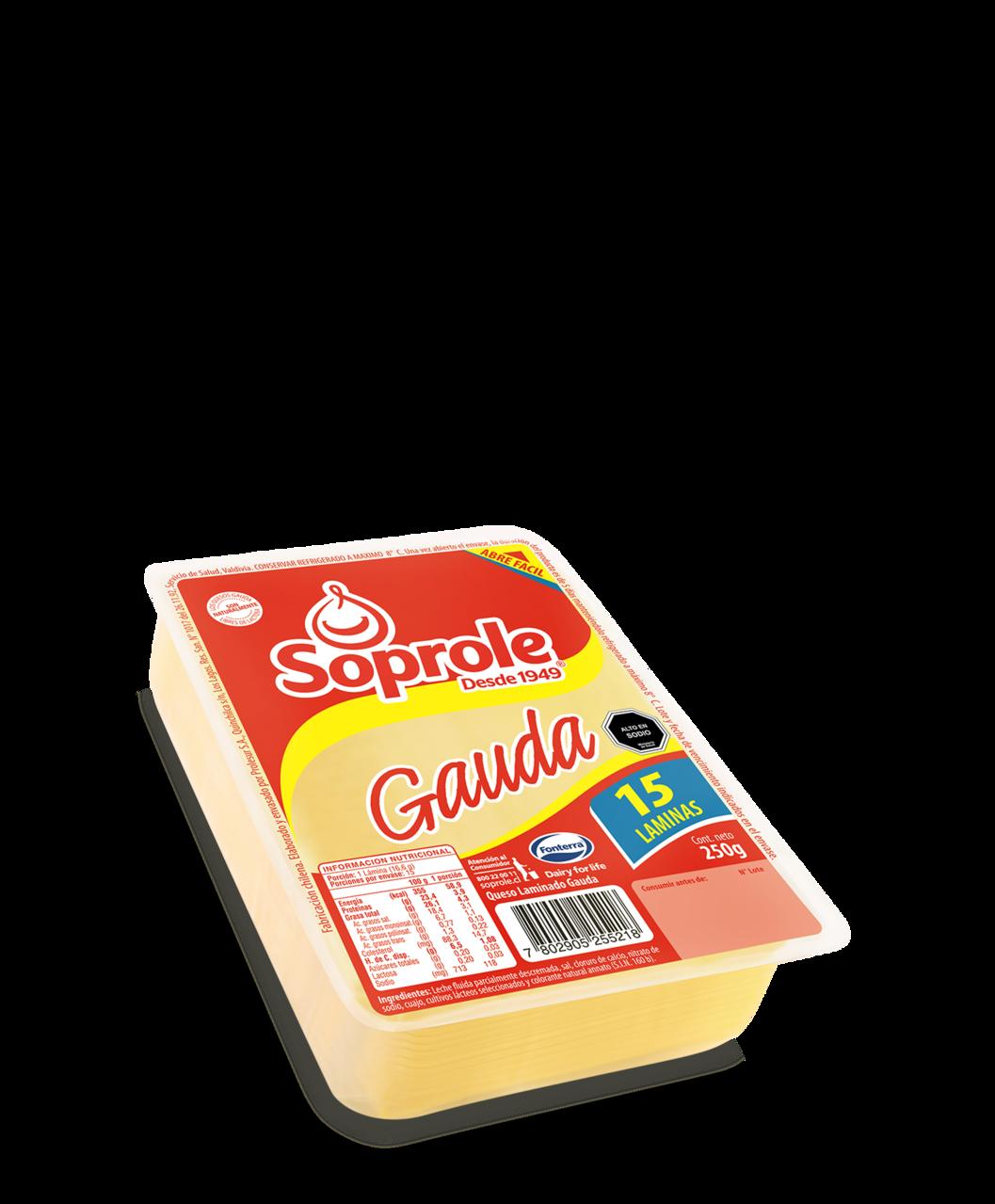 Soprole gauda queso laminado 250g