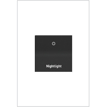 Engraved Paddle™ Switch, 15A, 4WAY, Graphite- Nightlight
