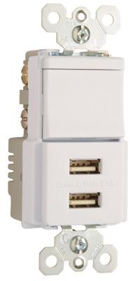 usb charger w single pole 3 way switch tm83usbwcc6 legrand tm83usbwcc6 pass seymour