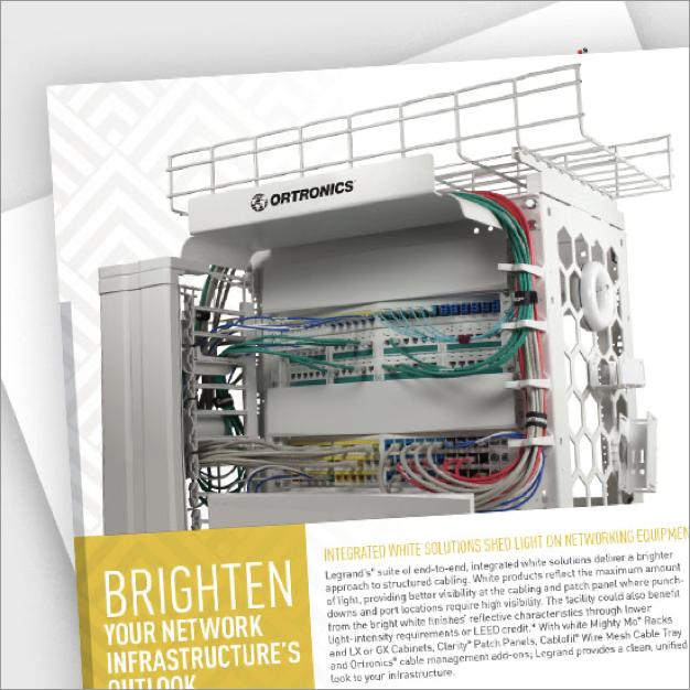 White cabinets and racks brochure pdf image