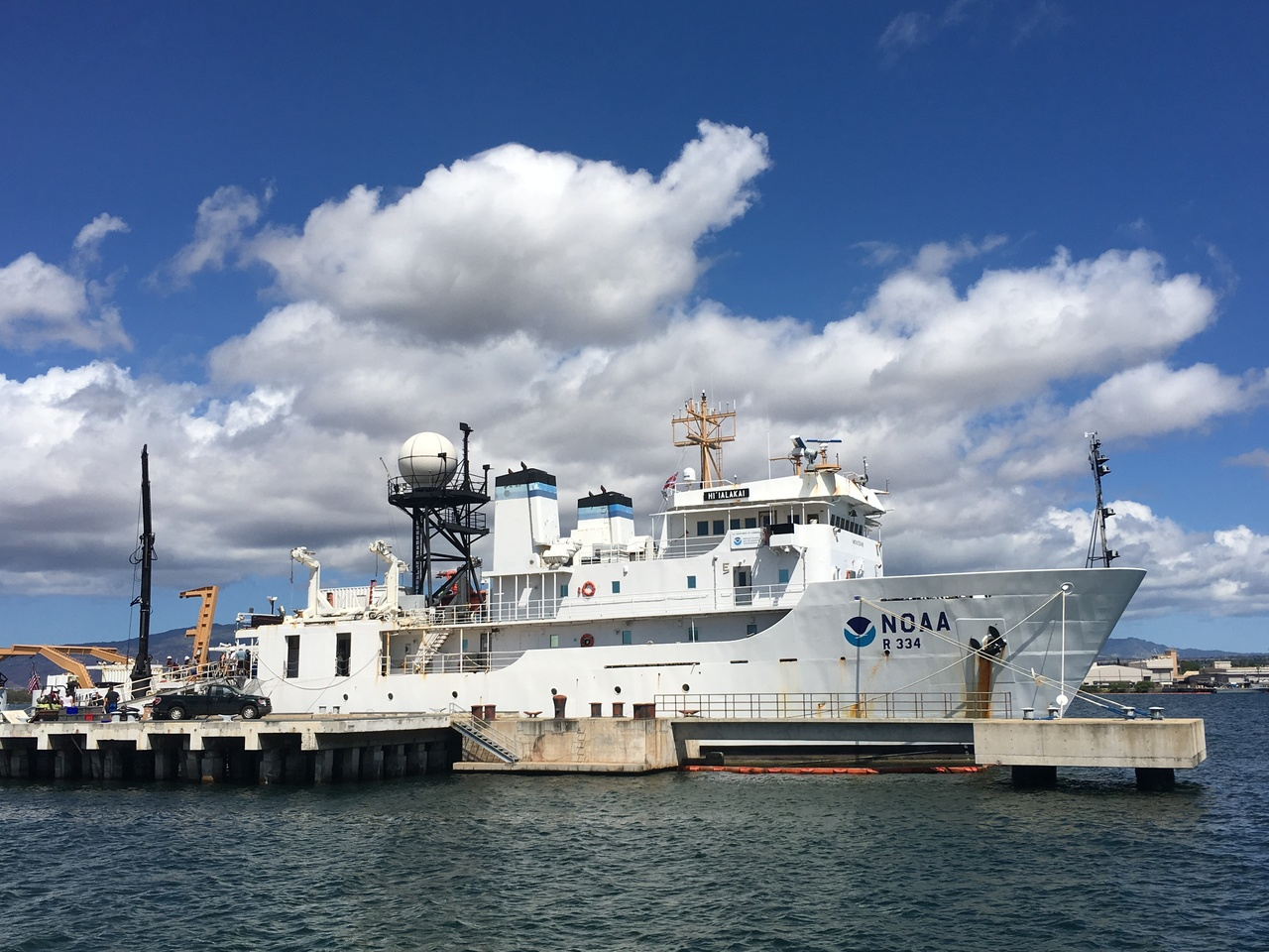 The NOAA Ship Hi'ialakai has returned to Honolulu, concluding her 2.5-month expedition to the Pacific Remote Islands and American Samoa. (Photo: NOAA Fisheries/Tomoko Acoba)