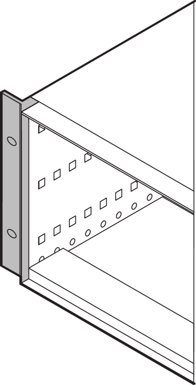 Image for 19''-mounting angle (RatiopacPRO) from Schroff - North America