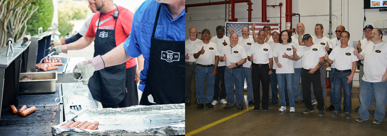 July Cookout – Honoring employees who have worked here for 25+ years at the breakfast event