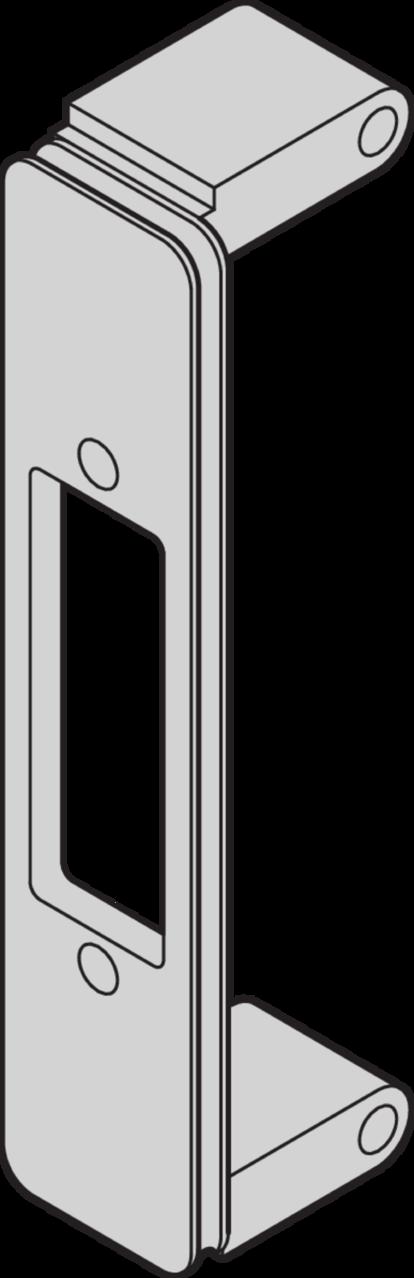 EMC bezel for FMC mezzanine front panel cut-outs, VITA 57 1