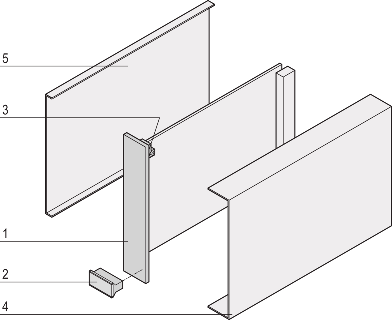 Image for Plug in unit, front anodized, rear passivated, unshielded, for cover on both sides, type 1 trapezoid handle from Schroff - Asia Pacific