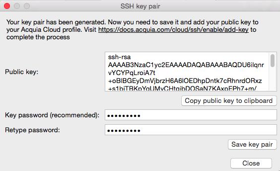 Generating an SSH key with Dev Desktop — Acquia Product