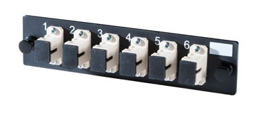 6-SC Simplex multimode adapters with phosphor-bronze alignment sleeves, OR-OFP-SCS06MB