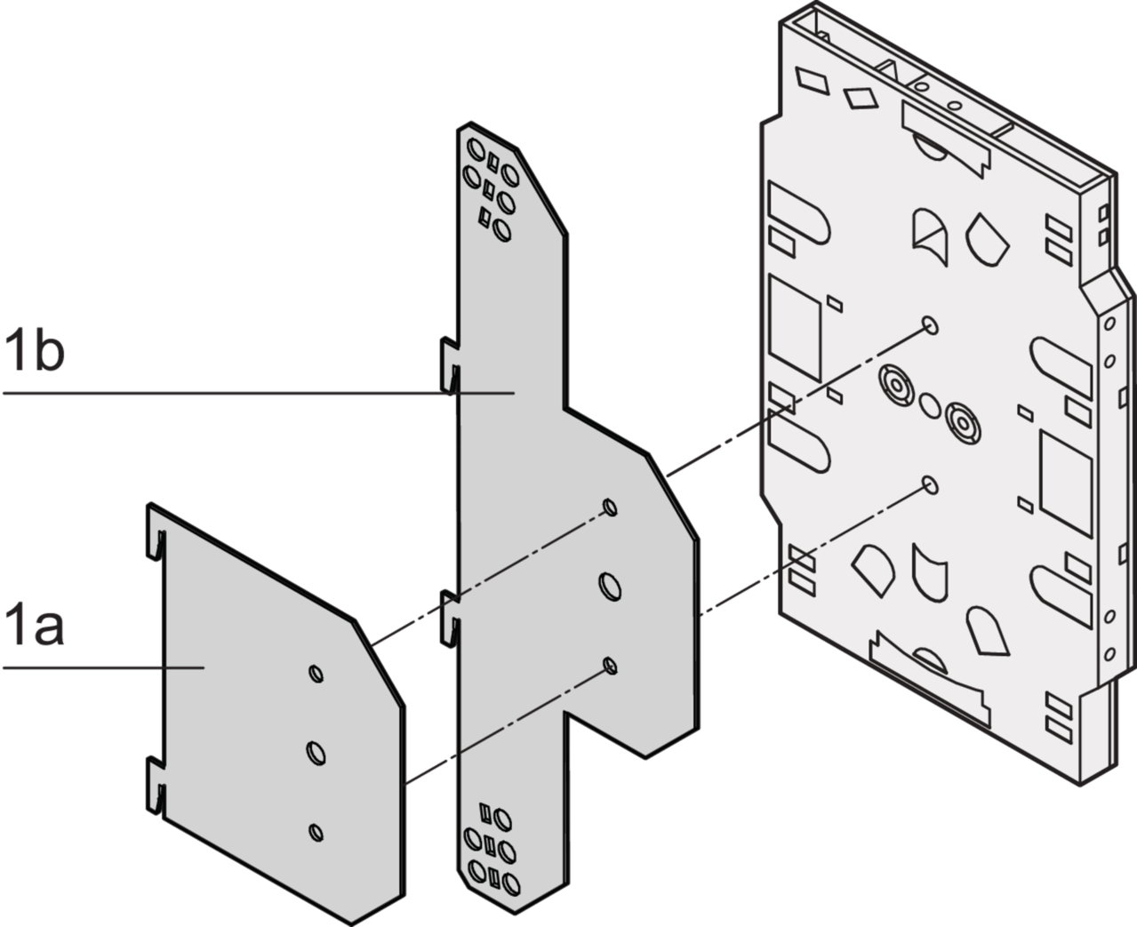 Image for Insertion plate for splicing cassettes from Schroff | Europe, Middle East, Africa and India