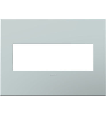 adorne 3-Gang Pale Blue Wall Plate