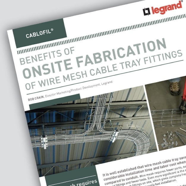 Image of Cablofil brochure about onsite fabrication