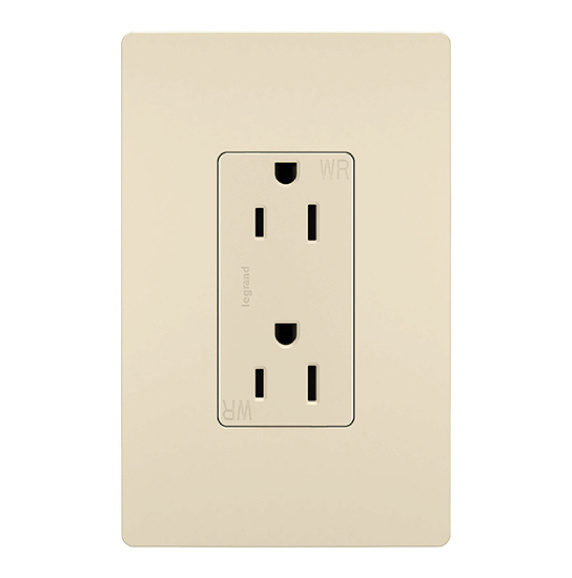 light almond radiant outlet and matching wall plate