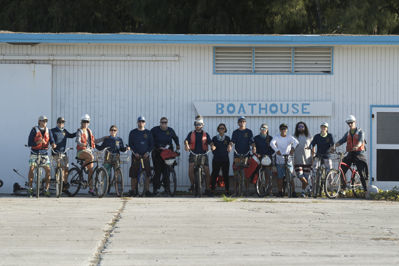 Boathouse and bikes at Midway Atoll