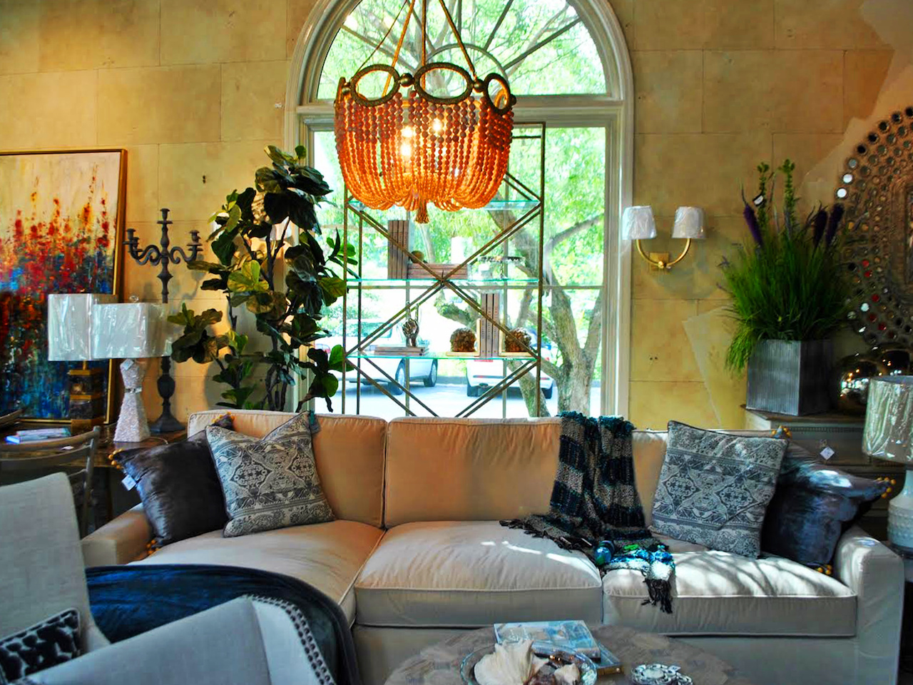 Pandy Agnew Interiors' showroom is packed with a diverse array of home decor finds.