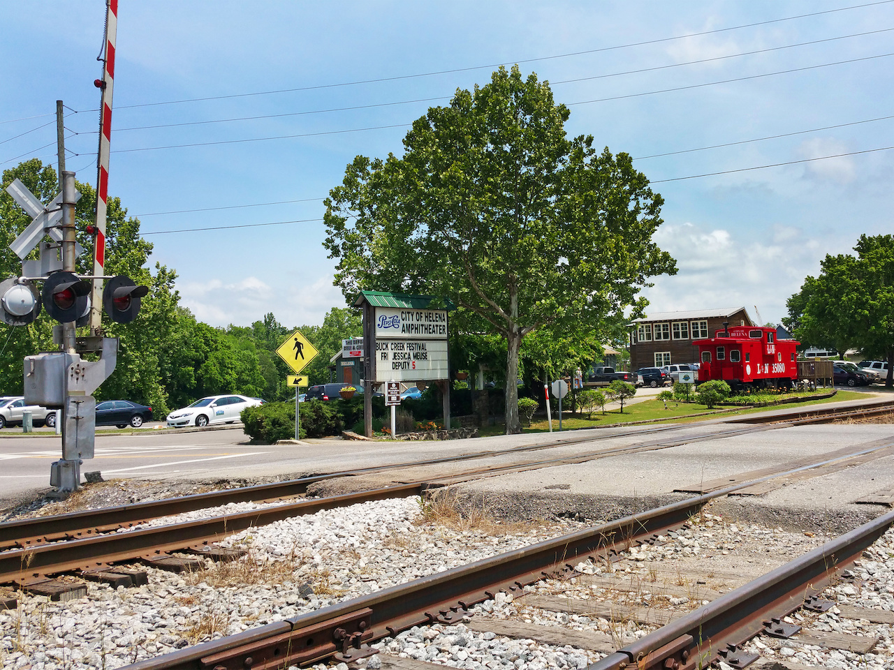 Helena road intersects with the railroad here at the nexus of Old Town Helena.
