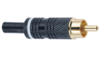 ZD06-Y - Economy RCA Connectors for smaller diameter audio and video cable