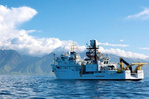 NOAA Ship off Hawaii Island.